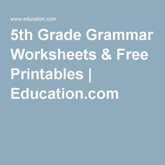 Worksheet Free 5th Grade Grammar Worksheets 5th grades grade grammar and fifth on pinterest worksheets free printables education com