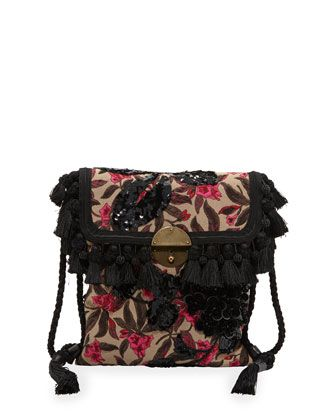 Floral+Embroidered+Surfer+Bag+by+Marc+Jacobs+at+Neiman+Marcus.