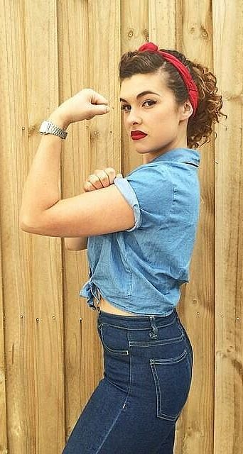 Rosie the Riveter Halloween costume
