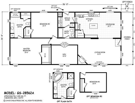 Sunshine Manufactured Homes In Ventura California Floor Plan Gs