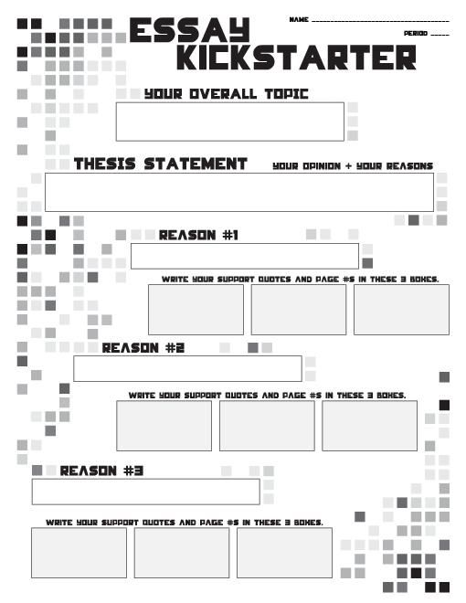 teacherlingo com essay outline writing kickstarter  teacherlingo com 0 00 essay outline writing kickstarter thesis statements topics quotes overall topic thesis statement reasons t