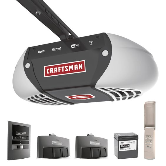 Craftsman 1 Hp Ultra Quiet Belt Drive Garage Door Opener Sears With Images Craftsman Garage Door Opener Craftsman Garage Door Garage Door Opener