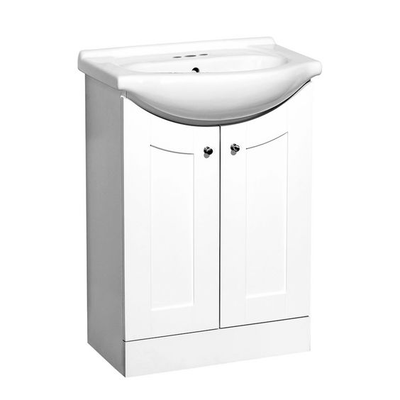Style Selections Euro Style 24-in x 17-in White Belly Bowl Single Sink ...