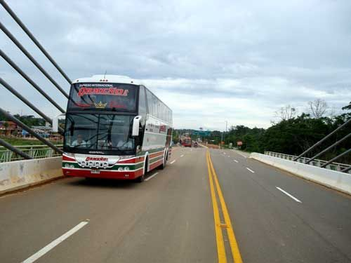 Some international bus lines cross the Colombia Ecuador border but the services are either poorly rated or are only for passengers committed to going from Bogota all the way to Lima.