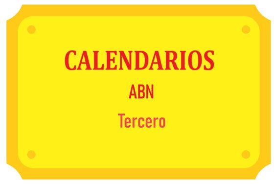 Calendarios ABN Tercero