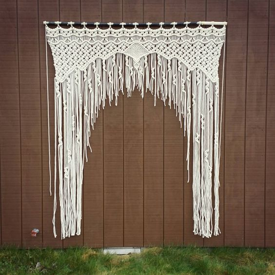 Large Macrame Wedding Arch / Bohemian Curtain / Wall Hanging ...