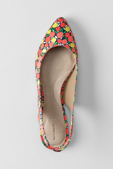 Women's Lucy Pointed Toe Slingback Shoes from Lands' End