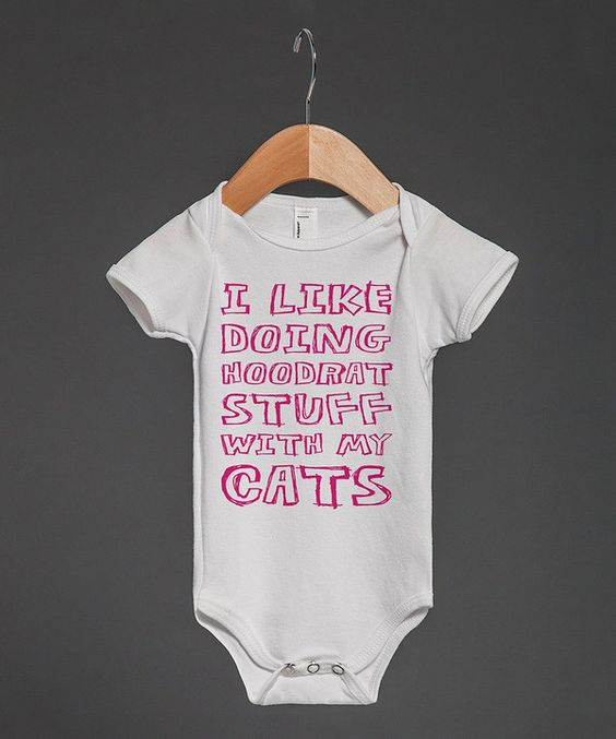 Look at this White 'Hoodcats' Bodysuit - Infant on #zulily today!