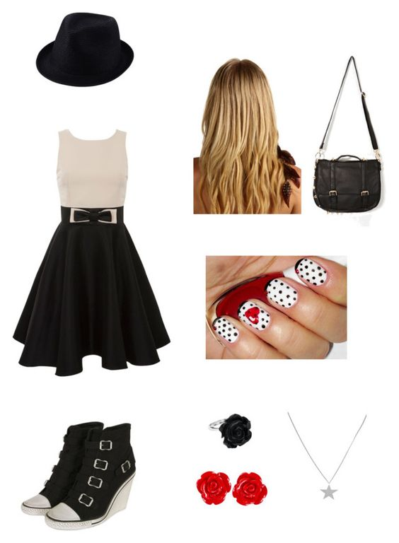 """#1"" by gabych1t ❤ liked on Polyvore featuring Ash, Kate Fearnley, Uniqlo, Jane Tran and TomShot"