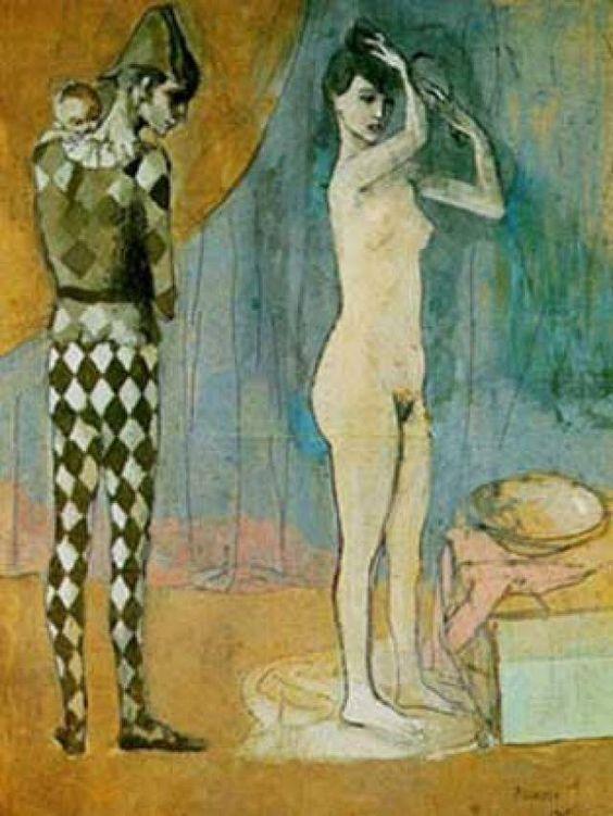 1905 Familia de arlequín. Expresionismo. Período rosa