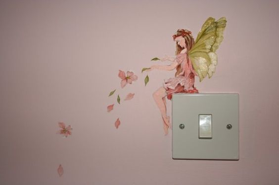 Detail of Fairy bedroom mural