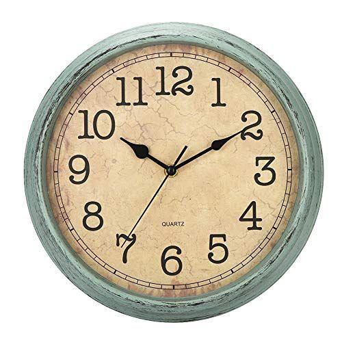 Hylanda 12 Inch Vintage Retro Wall Clock Silent Non Ticking Quartz Decorative Wall Clocks Ba In 2020 Retro Wall Clock Clock Wall Decor Wall Clock
