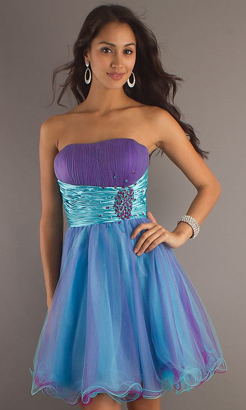 Short Strapless Homecoming Dress Omg totally looks like an Ariel ...