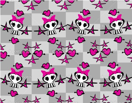 depositphotos_23920041-Seamless-emo-skulls-pattern.jpg (1023×803)