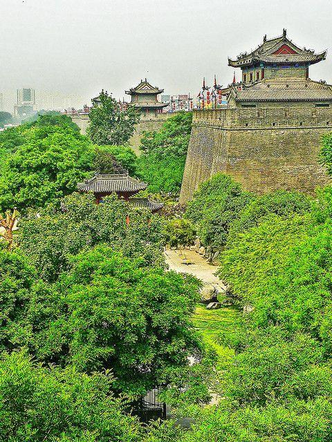 Xi'an outside city wall - China: