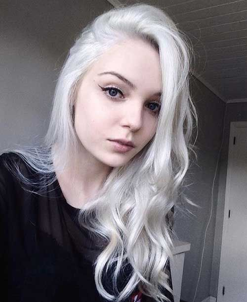 A La Mujer De Pelo Blanco