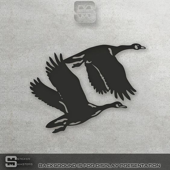 Flying Geese Sticker Flying Geese Decals Geese by StickerMasters