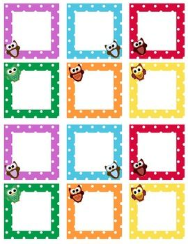 This file contains blank owl themed calendar squares. They work great with behavior management. These also coordinate with the owl calendar set and...