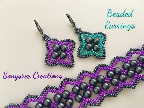 Easy Beaded Earrings Seed Bead Tutorials Beading Tutorials