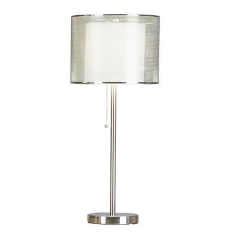 Brushed Steel Metal Mesh Table Lamp