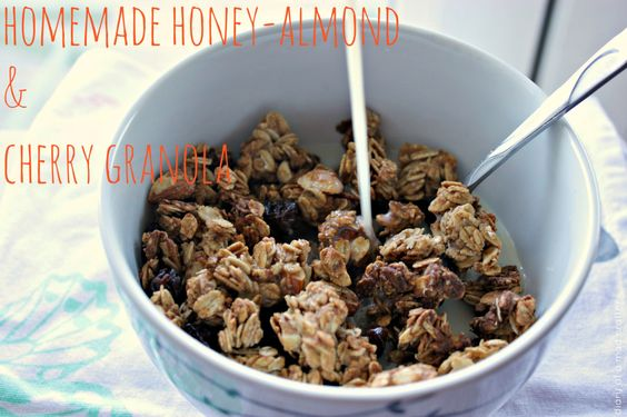 ... Honey-Almond & Cherry Granola | Granola, Cherries and Homemade