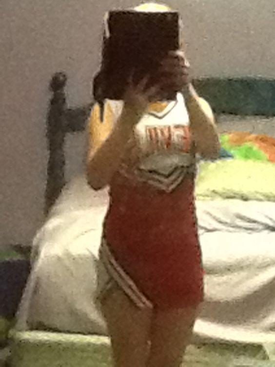 A jr.high cheerleader
