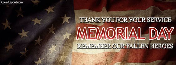 Thank You For Your Service Memorial Day Facebook Cover coverlayout.com