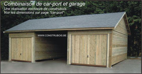 garages garages pr fabriqu s en belgique construbois le sp cialiste de cool garages. Black Bedroom Furniture Sets. Home Design Ideas