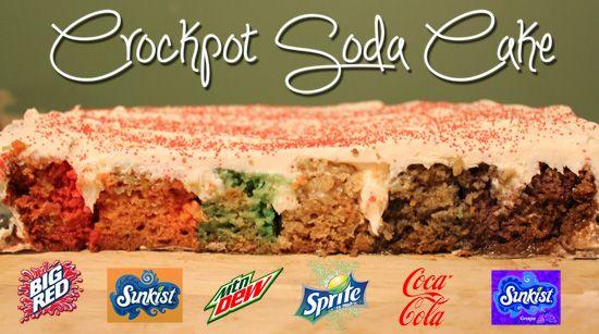 Crockpot Soda Cake.  Very fun and colorful!