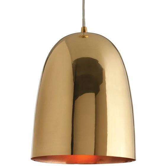 amazing arteriors savoy large polised brass pendant