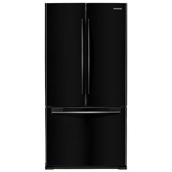 Samsung 18 cu. ft. Capacity Counter-Depth French Door Refrigerator - Black RF18HFENBBC