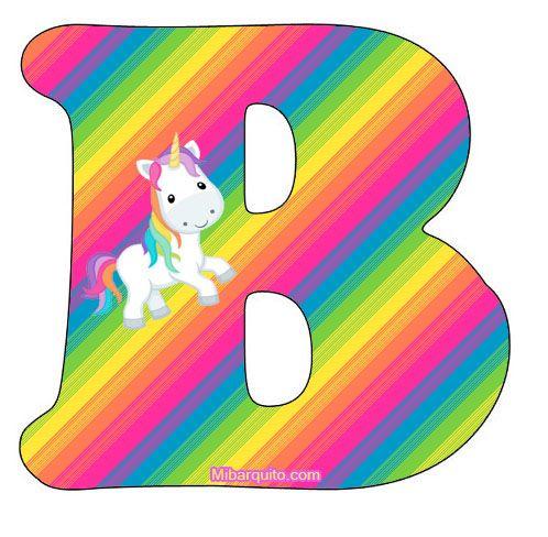 Letras Unicornios Abecedario Para Imprimir Gratis Con Imagenes