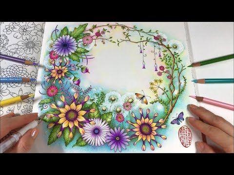 Youtube Johanna Basford Coloring Book Johanna Basford Coloring Flower Coloring Pages