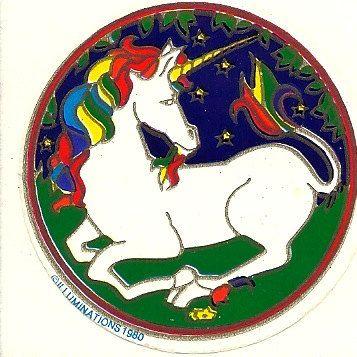 Rainbow Unicorn Sticker: Rainbow Unicorn, Blast, Window Decals, Unicorn Window, 90S