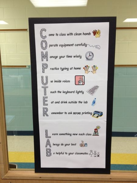 Computer Lab Acrostic  I love this!