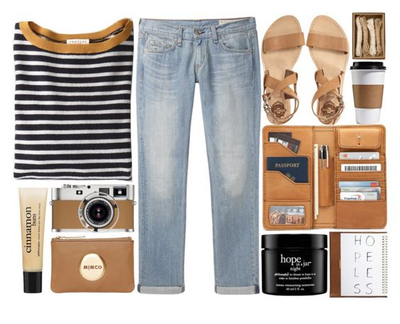 """""""organic"""" by linneaabowhill ❤ liked on Polyvore featuring rag & bone/JEAN, Demylee, philosophy, Hermès, Mimco, Sol Sana and Coach"""