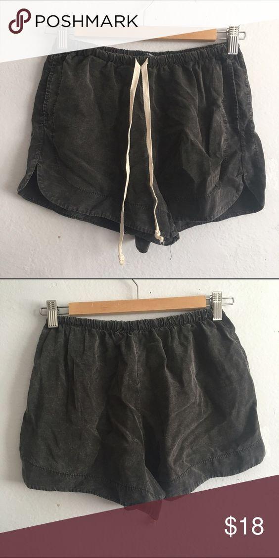 "NWT Brandy Melville Acid Wash Black Eve Shorts Would fit 27"" and under. Brandy Melville Shorts"