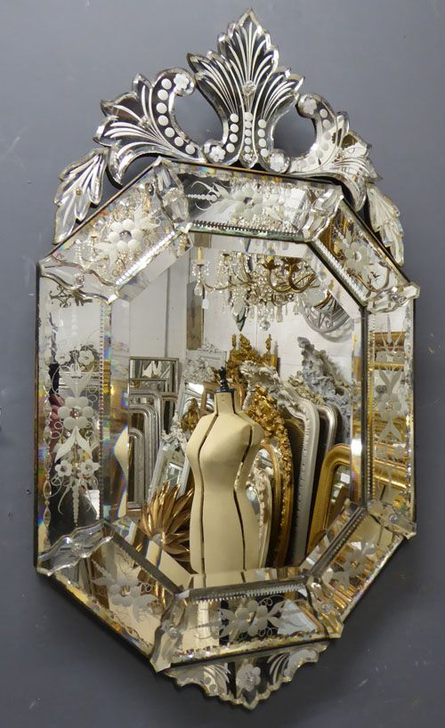 Antique Venetian Mirror 19th Century