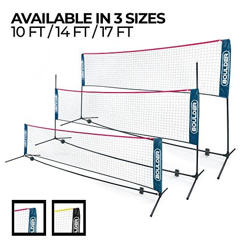 Boulder Portable Badminton Net Set 10 Ft Net For Tennis Https Www Amazon Com Dp B078wv2rsx Ref Cm Sw R Pi Dp U X Soccer Tennis Badminton Nets Badminton