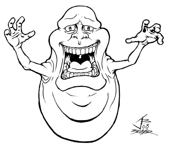 Ghostbusters Coloring Pages To Print Scary Slimer Coloring Page