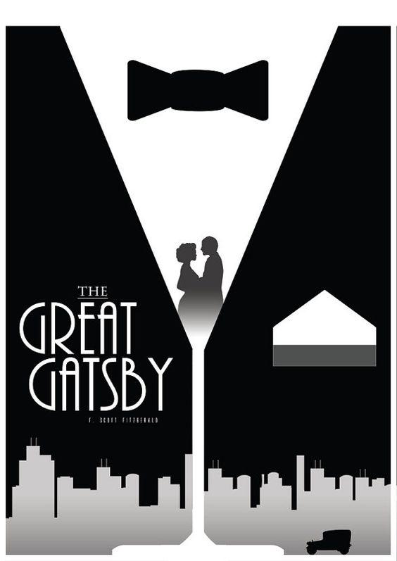 La grande affiche du film Gatsby, Articles ménagers, décoration murale littérature imprimer, minimaliste, F. Scott Fitzgerald
