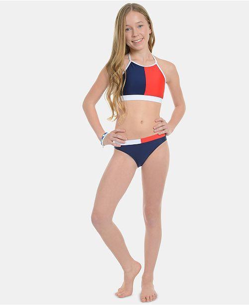 Tommy Hilfiger One-Piece Bikini para Ni/ñas