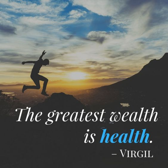 The greatest health is wealth. | Health quote | Healthy living quote |Famous quote | Part of 283 Bad Habits list post. Discover all the bad habits... and what you can do about them!