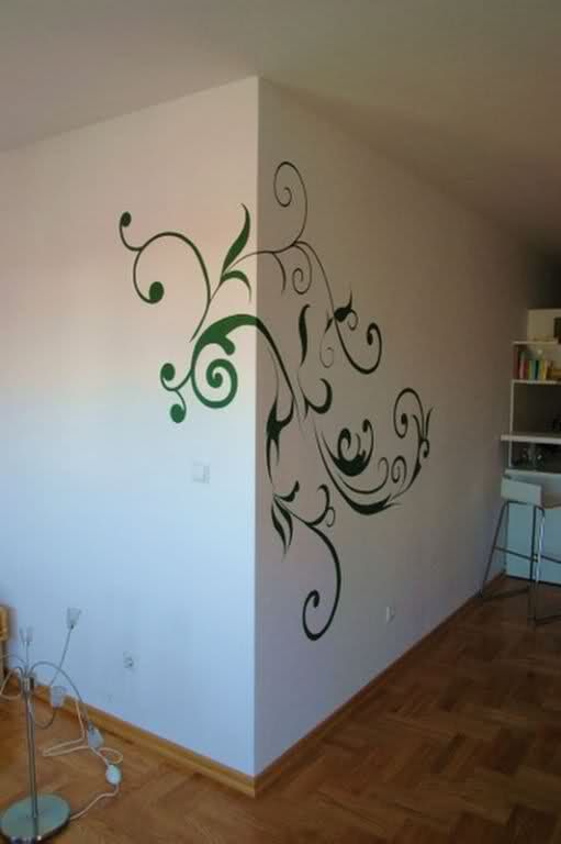 Wall paint designs design light up your house for Cool wall mural ideas