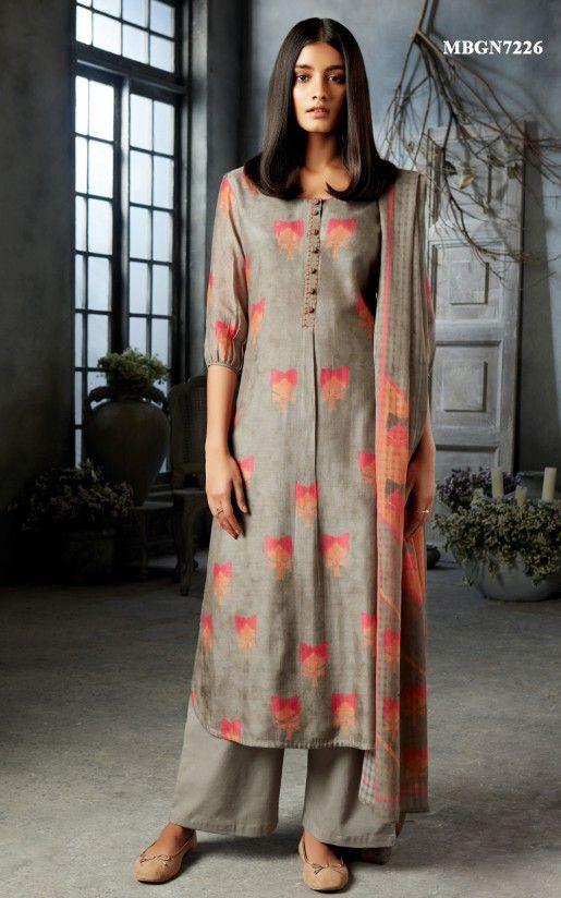 Pakistani Casual Salwar Kameez Suit Indian Ethnic Palazzo Kurta Dress Dupatta