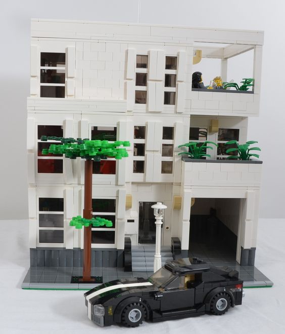 LEGO White Modern Puristic MOC modular