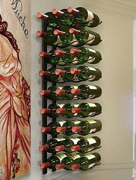 The 27-Bottle Wire Wine Rack offers you a sturdy and efficient place to store your favorite wine.