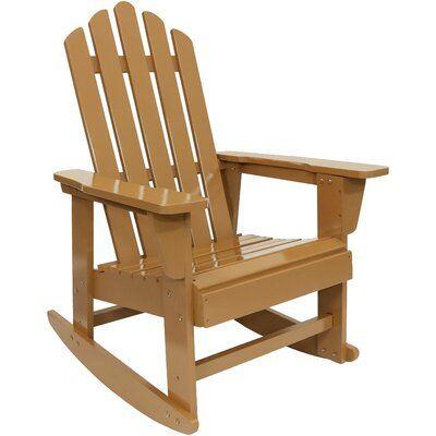 Ebern Designs Evgenia Classic Solid Wood Rocking Adirondack Chair
