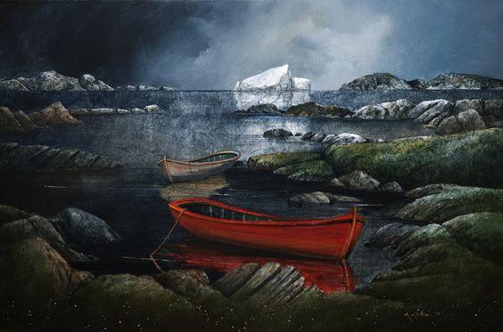 April Ice on the Labrador, by Mark Fletcher