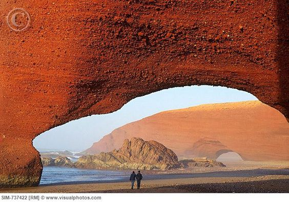 Red cliffs of Legzira, Morocco. One day. <3